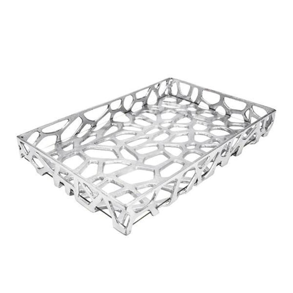 Byron Tray Silver Leaf by Worlds Away