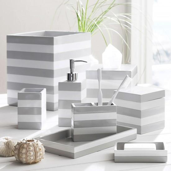 Cabana Grey Bath Accessories by Kassatex