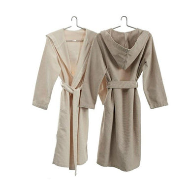 Capuz Robes in Linen and Ecru by Abyss and Habidecor | Fig Linens and Home