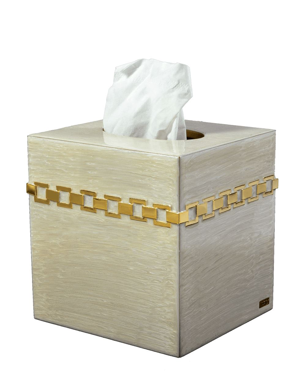 Tissue Box Carlyle Moonglow Collection by Mike + Ally | Fig Linens and Home
