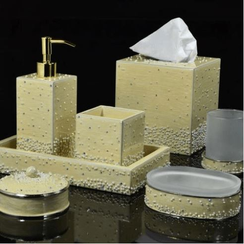 Caviar Cream Pearl Collection - Mike + Ally Bathroom Accessories