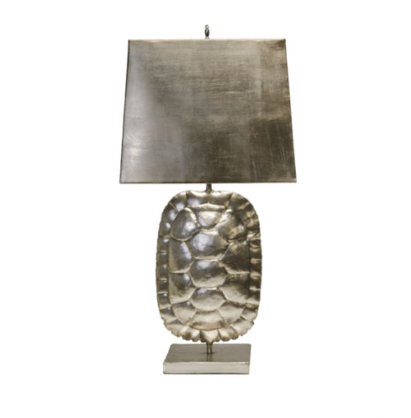 Cecile Silver Tortoise Table Lamp by Wolds Away | Fig Linens
