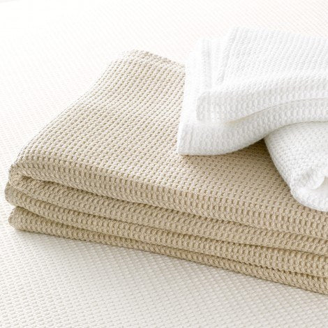 Chatham Ivory & White Blanket from Matouk - Fig Linens and Home
