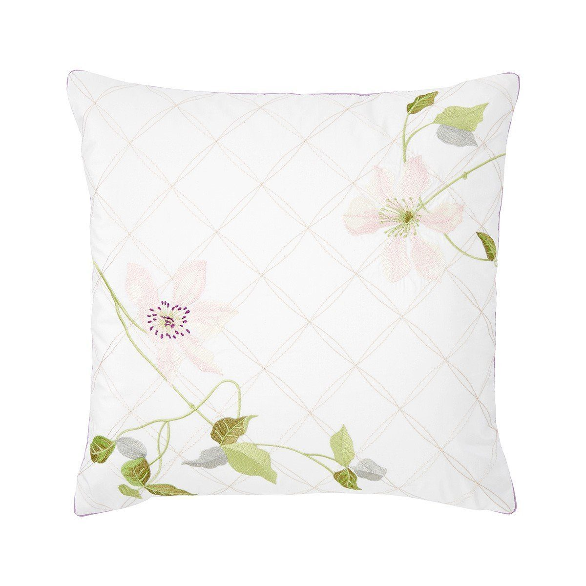 Clematis Decorative Pillow by Yves Delorme - Fig Linens and Home