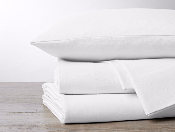 Alpine White Cloud Brushed Organic Flannel Sheet Sets by Coyuchi