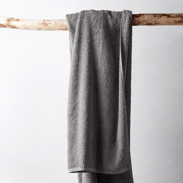 Cloud Loom Slate Organic Bath Towels by Coyuchi | Fig Linens