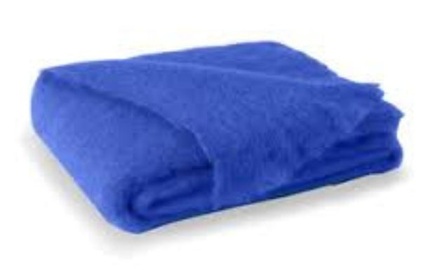 Brushed Mohair Throw Cobalt by Lands Downunder