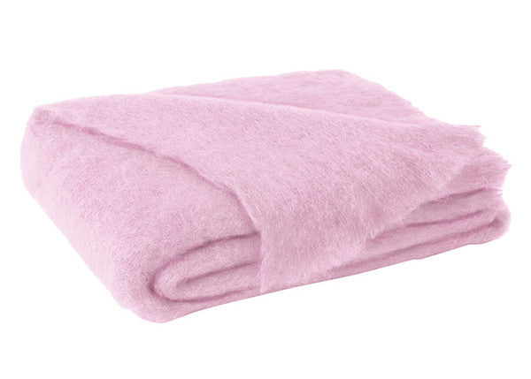 Brushed Mohair Throw Cotton Candy by Lands Downunder