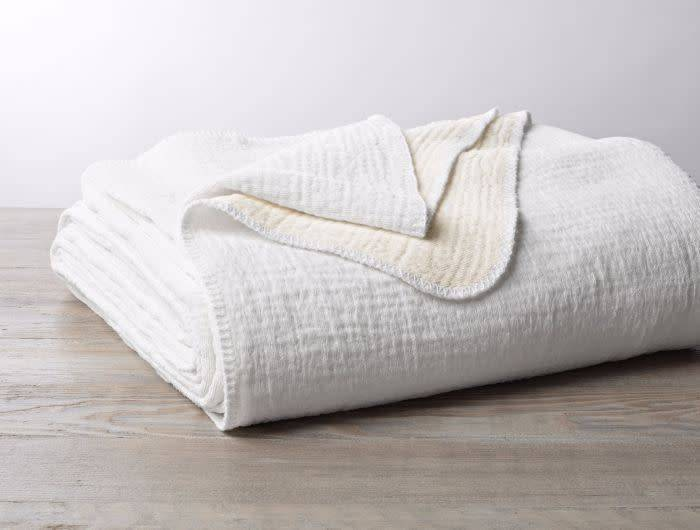 Cozy Cotton White Organic Blanket by Coyuchi - Fig Linens