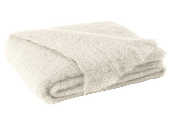Brushed Mohair Throw Cream by Lands Downunder