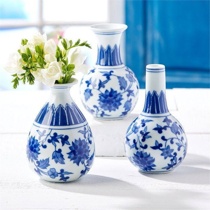 Canton Bud Vases- Set of 3