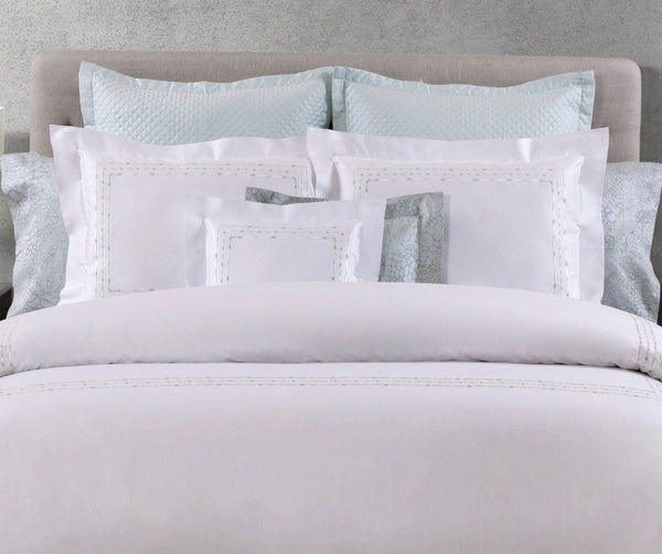 Sole Embroidery Bedding by Dea Linens | Fig Fine Linens and Home