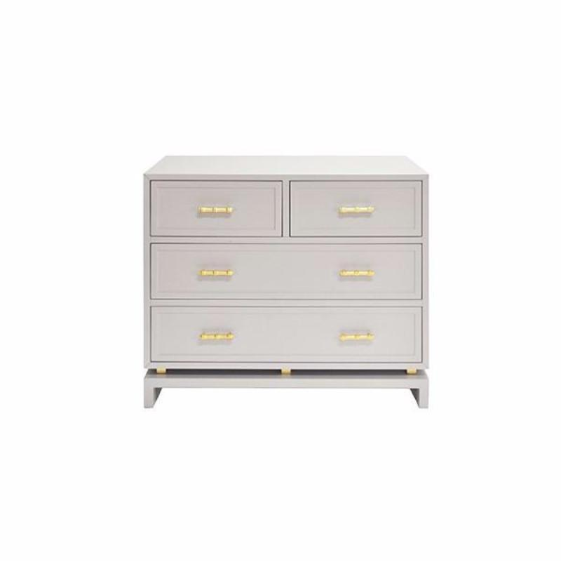 Declan Grey Chest - Shop Lacquered Grey Furniture - Fig Linens