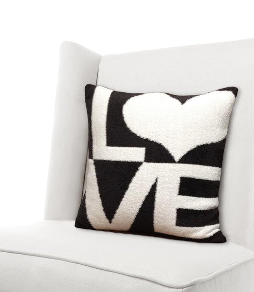Dolce Love Pillow in Chocolate by Little Giraffe