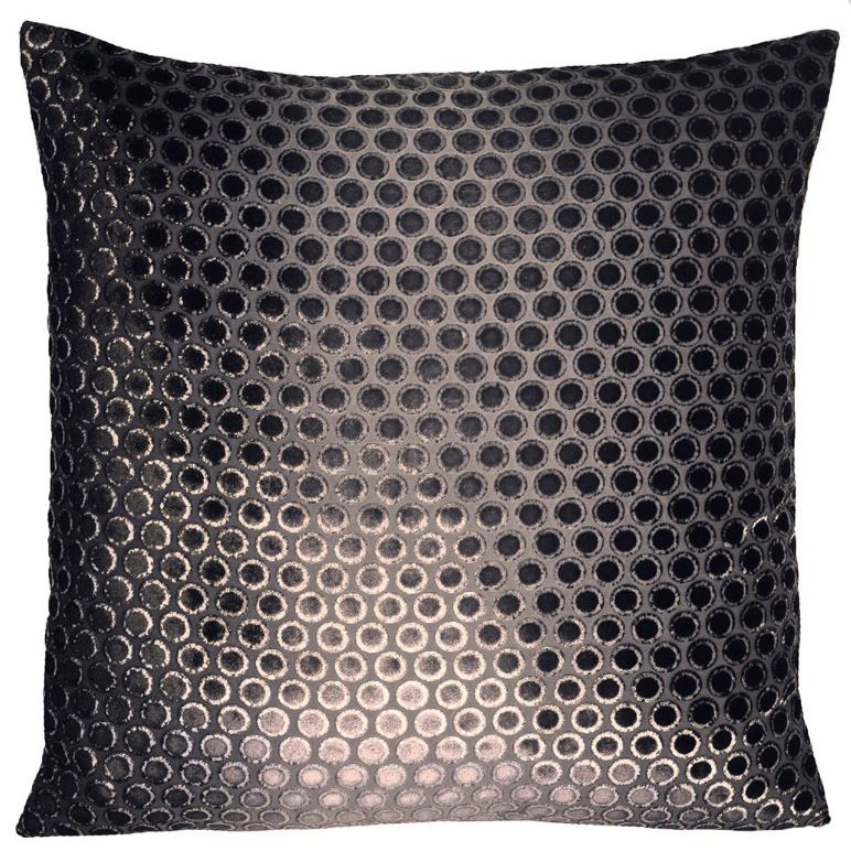 Dots Smoke Velvet Pillows by Kevin O'Brien Studio | Fig Linens