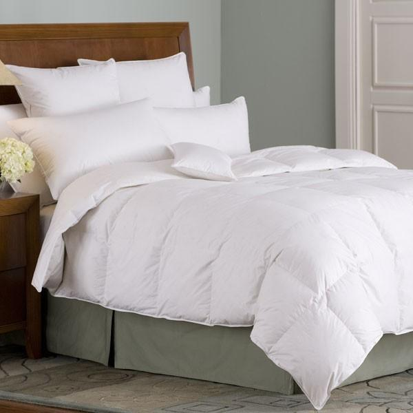 Organa 650+ White Goose Down Comforter - Organic Bedding | Fig Linens