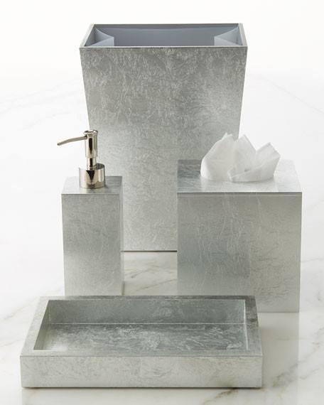 Eos Silver Bathroom Accessories by Mike + Ally | Fig Linens