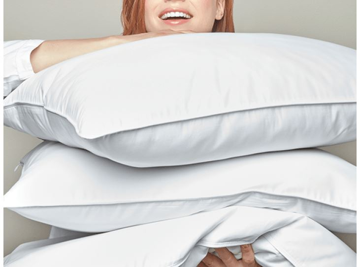 White Goose Down Pillows by Peacock Alley | Fig Linens