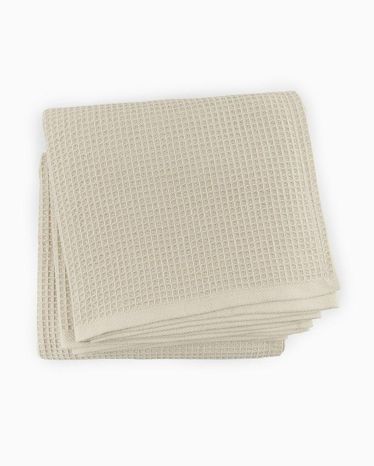Fig Linens - Kingston Blanket by Sferra - Cotton Waffle Bed Blankets - Mushroom beige blanket