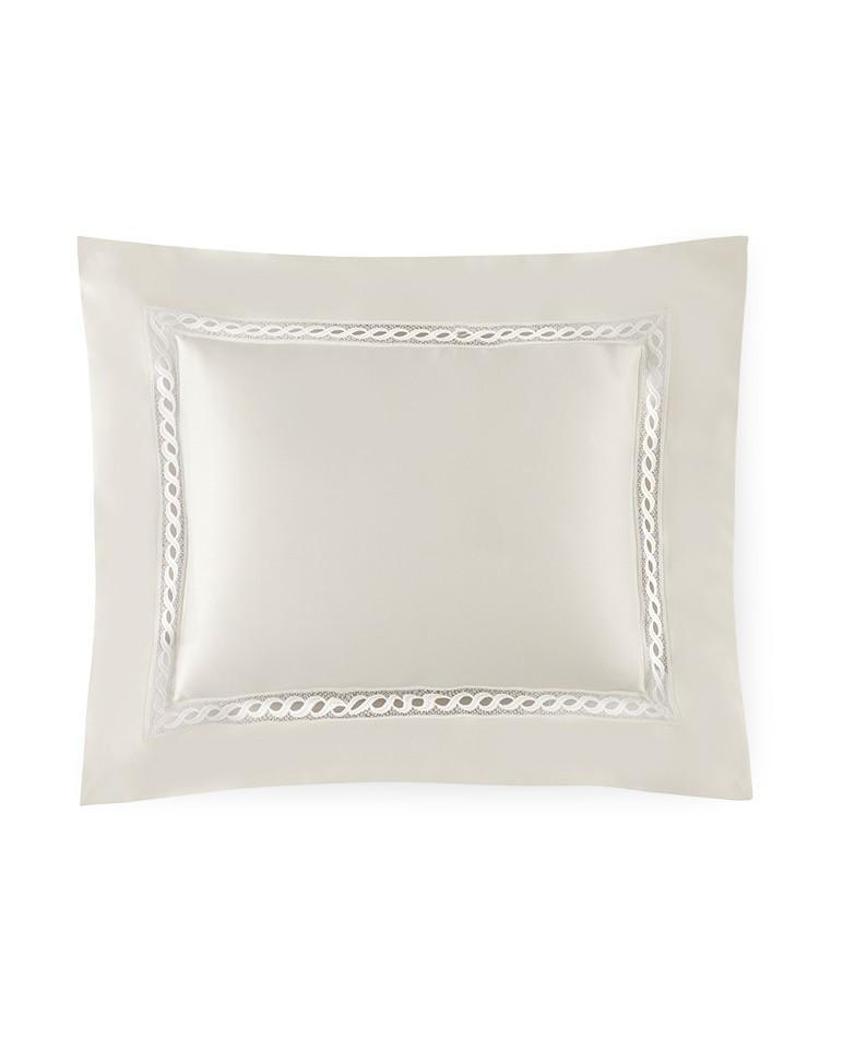 Fig Linens - Millesimo Bedding Collection by Sferra - Ivory continental sham