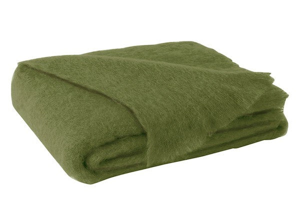 Brushed Mohair Throw Fern by Lands Downunder