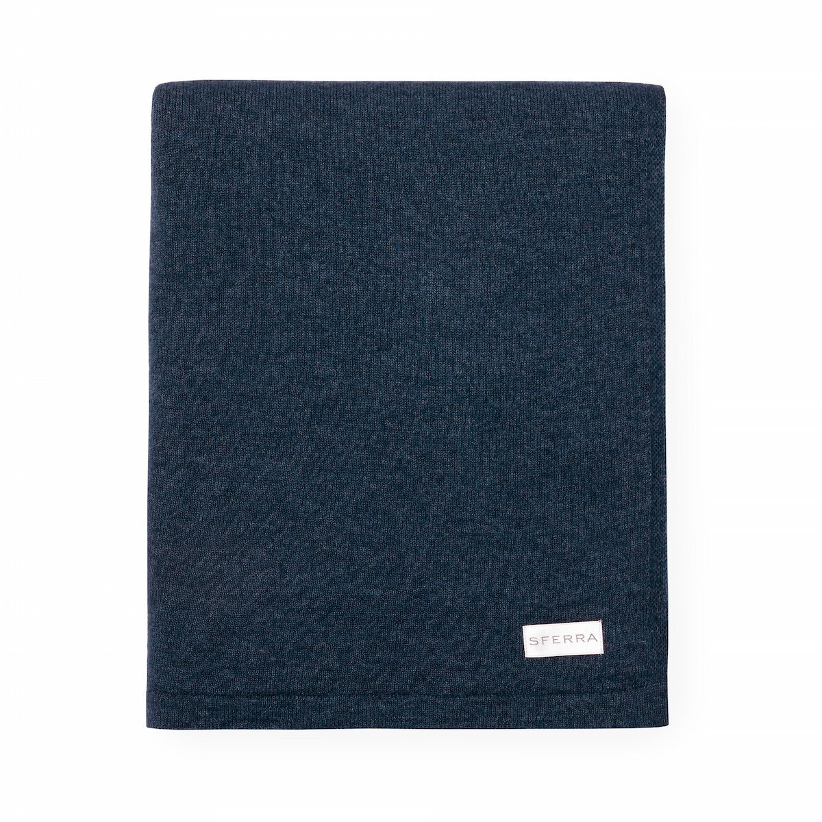 Fig Linens - Sferra Tiago Indigo Throw