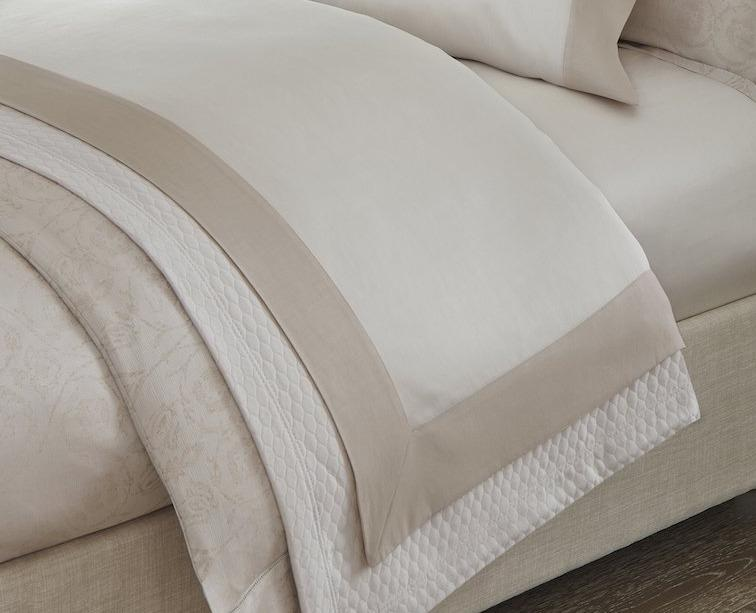 Fig Linens - Sferra Bedding - Favo Coverlet with Larro Bedding