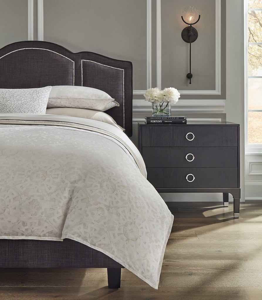 Tellaro Fog Duvet and Shams By Sferra | Fig Fine Linens and Home