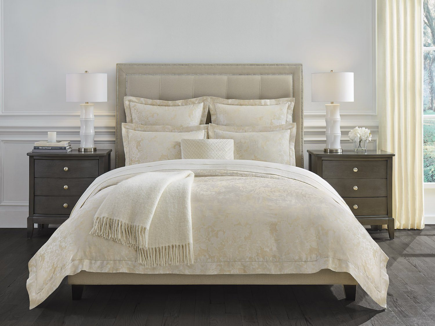 Petalo Gold Bedding by Sferra | Fig Fine Linens and Home