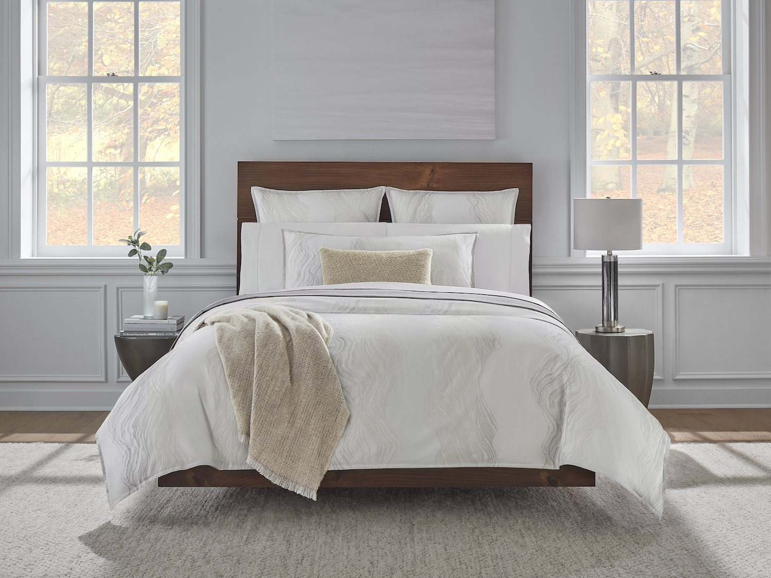 Melba Tin Duvet Cover & Shams By Sferra | Fig Linens and Home