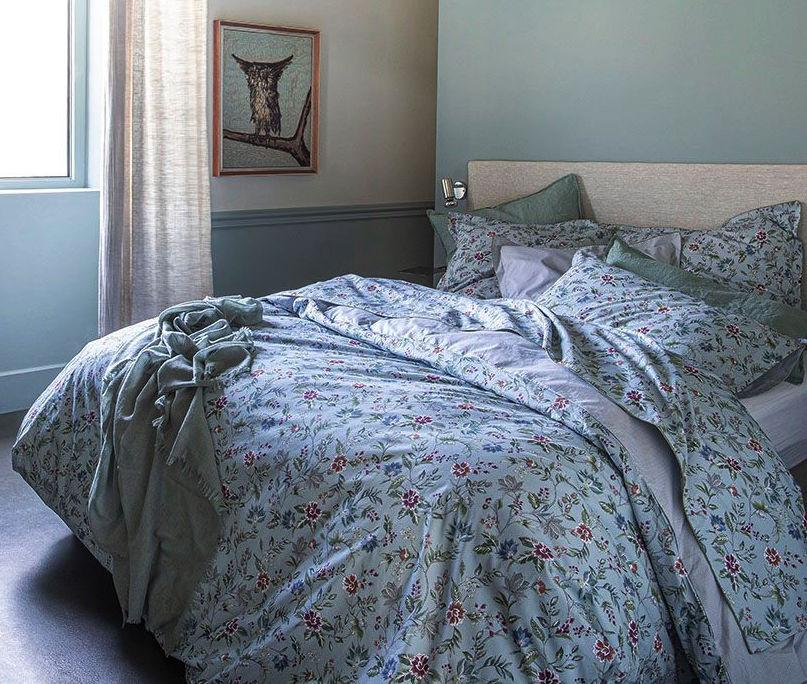 Candide Blue Bedding by Alexandre Turpault