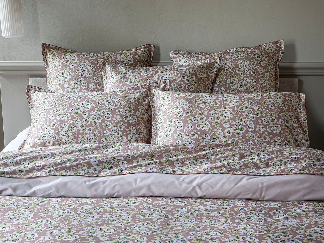 Pink Dew Blossom Bedding by Alexandre Turpault