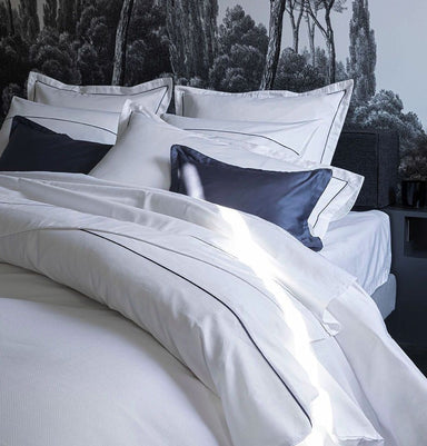 Fig Linens - Orsay Snow & Navy Bedding by Alexandre Turpault