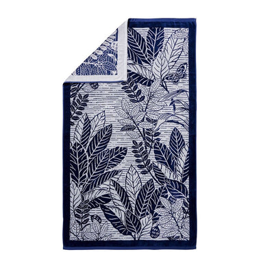 Le Reve Navy Beach Towel by Alexandre Turpault | Fig Linens and Home
