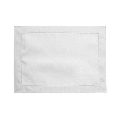 Florence White Linen Placemat by Alexandre Turpault | Fig Linens