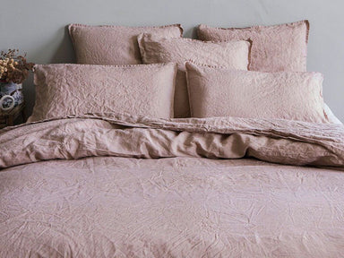 Fig Linens - Nouvelle Vague Pink Beige Bedding by Alexandre Turpault