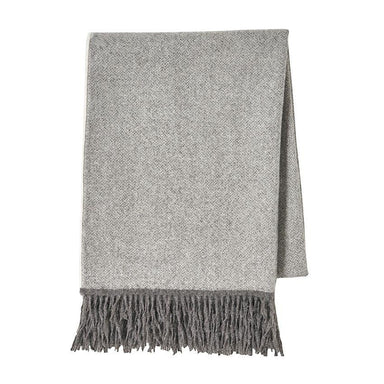 Nomade Grey Baby Alpaca Throw by Alexandre Turpault | Fig Linens