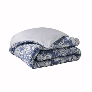 Fig Linens- Chandernagor Navy Bedding by Alexandre Turpault - Duvet