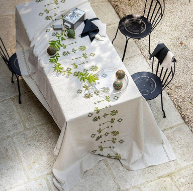 Barbade Natural Tablecloths by Alexandre Turpault | Fig Linens