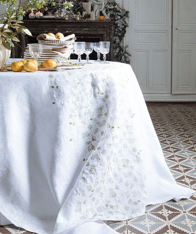 Domaniale White Tablecloth by Alexandre Turpault | Fig Linens