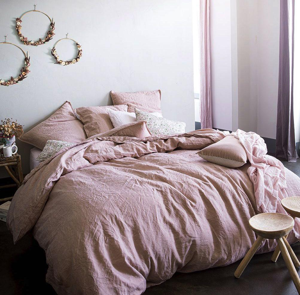 Nouvelle Vague Pink Beige Bedding by Alexandre Turpault