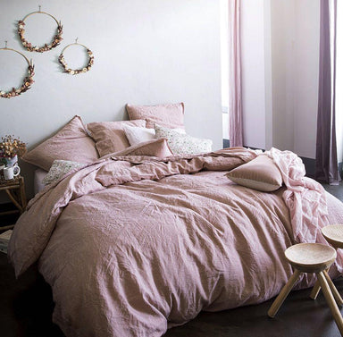 Nouvelle Vague Pink Beige Bedding by Alexandre Turpault | Fig Linens
