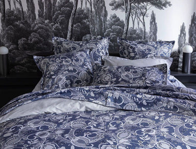 Chandernagor Navy Bedding by Alexandre Turpault | Fig Linens