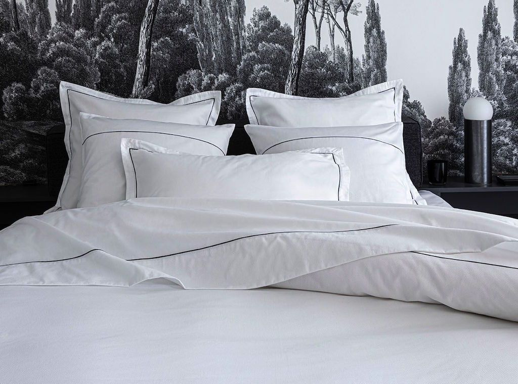 Orsay Snow & Navy Bedding by Alexandre Turpault