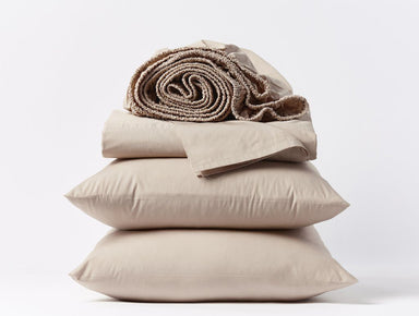 Fig Linens - 300 TC Quartz Organic Percale Sheet Sets by Coyuchi