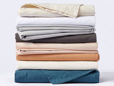 Fig Linens Organic Crinkled Sheet Sets - Coyuchi Organic Bedding