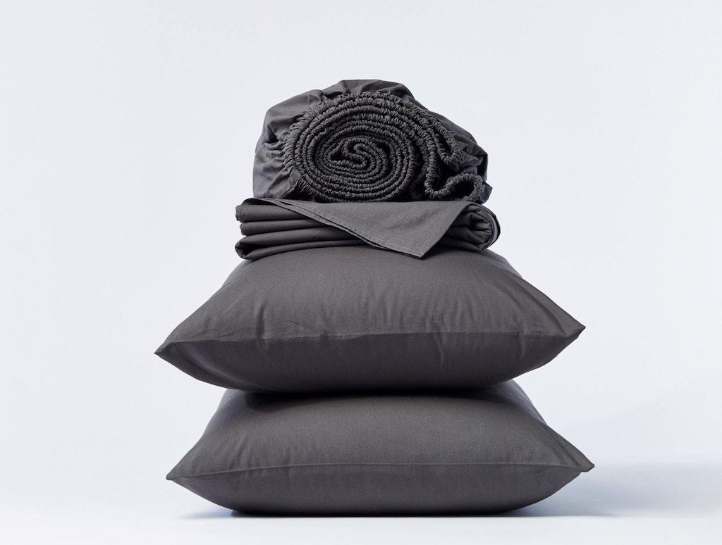 Shadow Organic Crinkled Percale Sheet Sets by Coyuchi