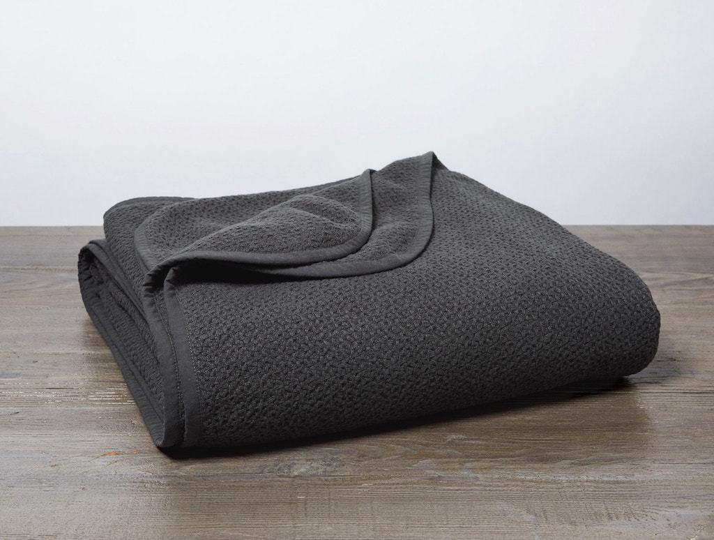 Shadow Honeycomb Organic Blanket by Coyuchi | Fig Linens