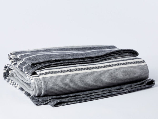 Mariposa Gray Organic Blanket by Coyuchi | Fig Linens and Home