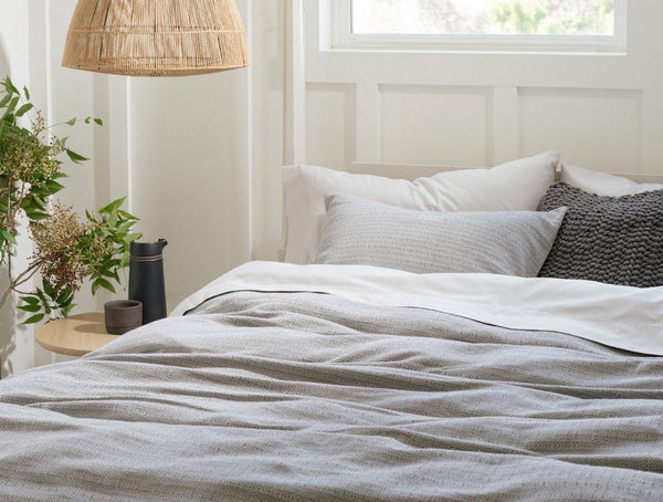 Monterey Shadow Organic Bedding by Coyuchi | Fig Linens